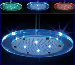 "8"" Synthetic Glass Round Led Shower Head"
