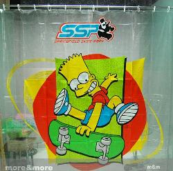 Simpson Design PVC Shower Curtain