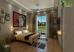 3D Interior Animation of Modern Bedroom