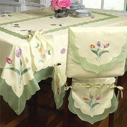Dining Table and Chair Satin Cover