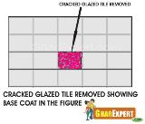 Cracked Tile Removed