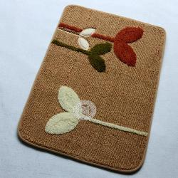 Square Plant Design non-slip Door/Bath Mat