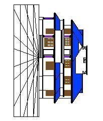 2d Front elevation of the house with slanted roof