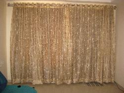 Electrifying curtains for drawing room