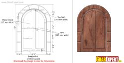 wooden arch door for main entrance