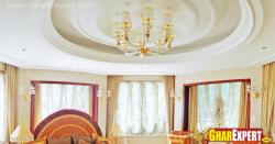 Circular ceiling design for octagon shaped room