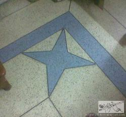 Marble chips flooring