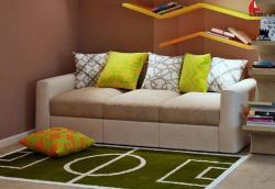 Sofa and carpet design for kids room