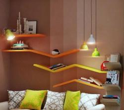 Colorful bookshelves for kids room
