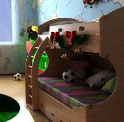 Wooden bed design for kids