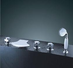 Waterfall Roman Tub Faucet With Hand Shower