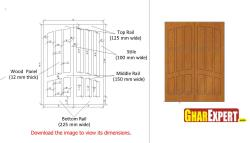 Simple and economical wooden entrance door