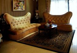 Royal white upholstered sofa set