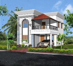 Green Building House Exterior elevation design