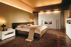 Lighted bedroom and bedroom furniture, wardrobes