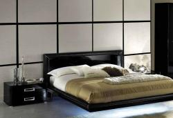 full size platform bed in black