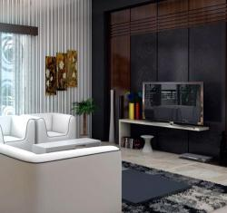 modern living room furniture and lcd
