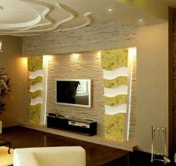 Designer wall cladding for mounted tv