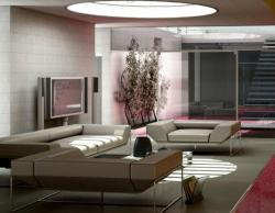 modern furniture in white for drawing room