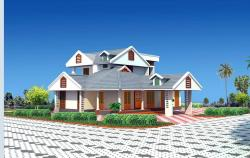 beautiful slop roof house design