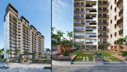 3D Residential Appartment Garden View