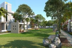 3D Residential House Garden View Design