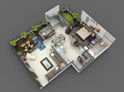 3D Luxurious Home Floor Plan