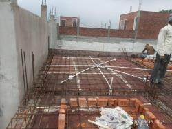 shuttering work for slab