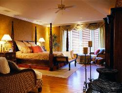 Four Poster Bed in a large room