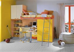 kids bed and study furniture