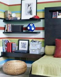 teen room paint strips in bold colors