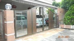 stainless steel door with glass