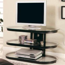 glass table top tv stand