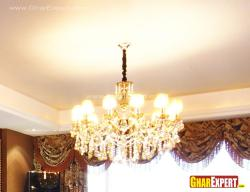 Beautiful crystal chandelier for living room