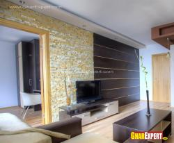 Lcd unit wall design in living room