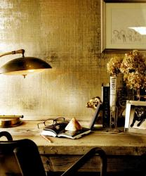 rustic texture wallpaper for study room