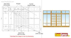 Large windows and glass panel door