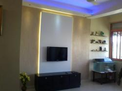 modern LCD wall unit with back lighting