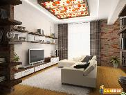 Embellish your living room with exposed brick walls