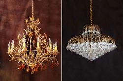 Crystal Chandeliers with Metal Finish
