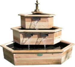 Wood Garden Fountain