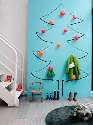 Christmas tree design  kids room paint ideas
