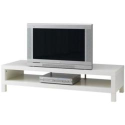 low height TV unit in white color