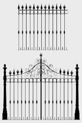 iron gate and grill design drawing