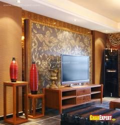 LCD unit back wall in ornamental design