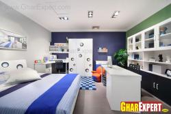 kids room with study area