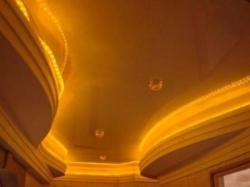 Curvy coves made in false POP ceiling design
