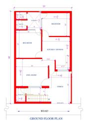 25 by 40 2bhk house plan