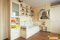 Kids room with a combination of smart storage ideas