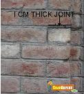Thickness of joint